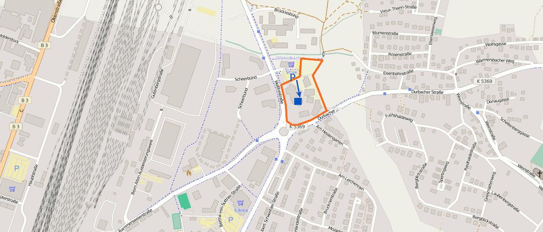 OpenStreetmap Karte für die Yoga Übungsräume